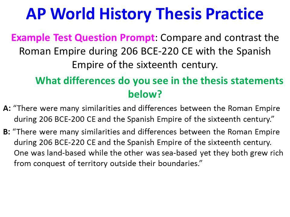 Aim: How Can I Write AP World History Essays? - ppt video online ...