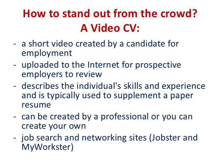 Video-resumes in teaching English