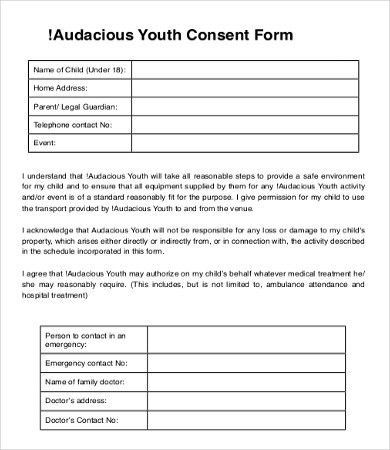 Consent Form Template - 9+Free Word, PDF Documents Download | Free ...