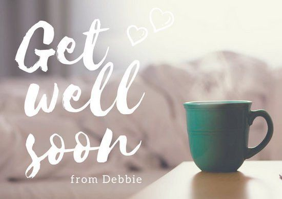Get Well Soon Script Card - Templates by Canva