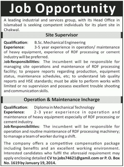Site Supervisor Archives - Jhang Jobs