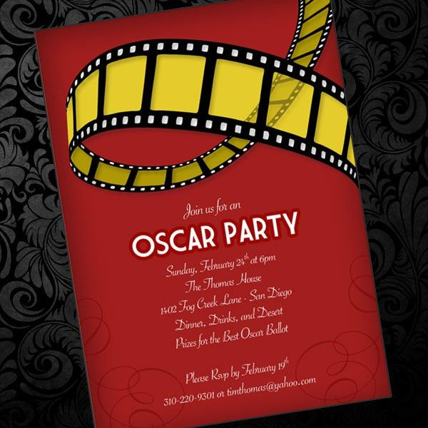 Oscar Party Invitation Template – Download & Print