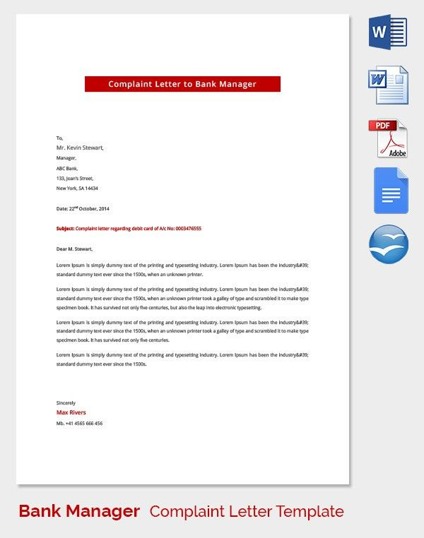 Complaint Letters - 21+ Free Word, PDF Documents Download | Free ...