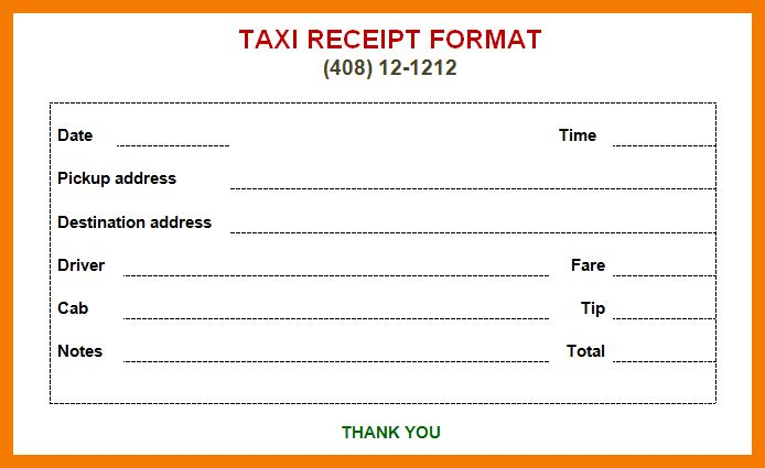 7+ taxi bill in word format | resume holder