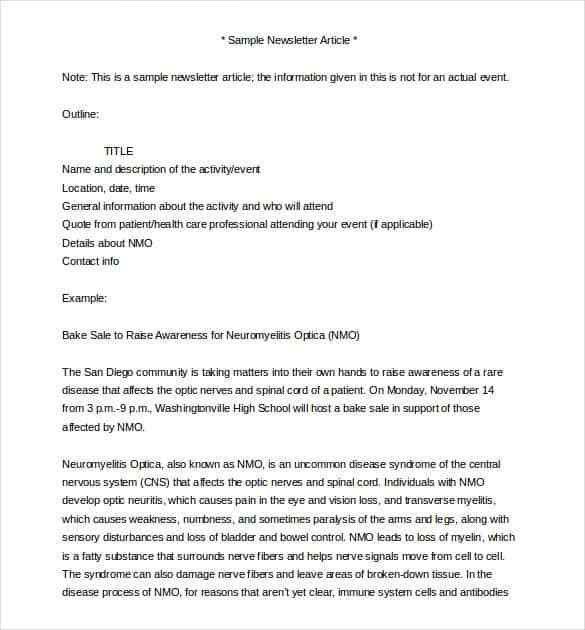 Word Newsletter Template – 31+ Free Printable Microsoft Word ...