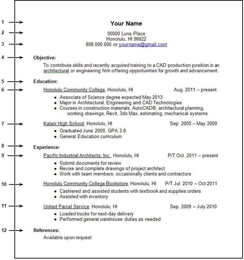 First Resume Examples. Waitress First Resume Template High School ...