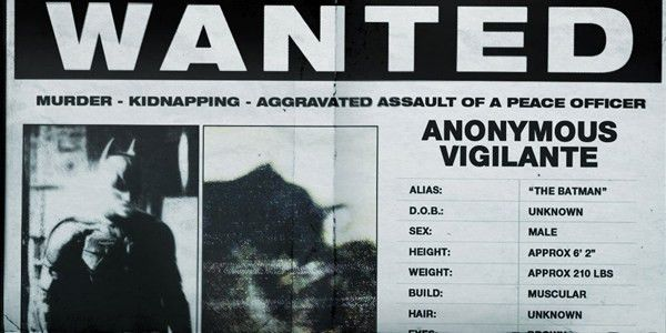 Batman Viral Marketing Rises with Wanted Poster, Real World ...