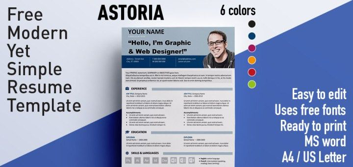 Free Resume Template Microsoft Word. Free Resume Templates ...