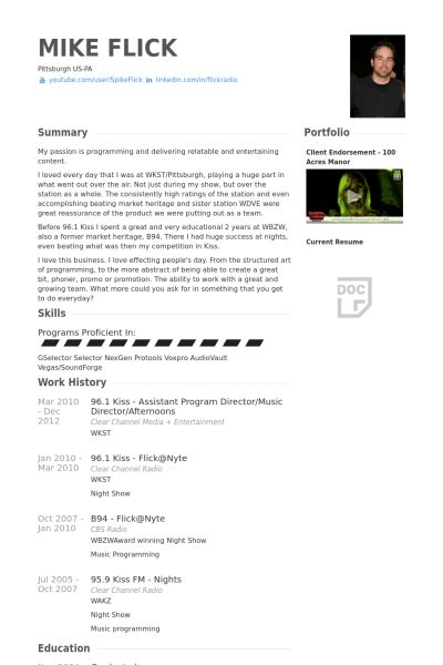 Program Director Resume samples - VisualCV resume samples database