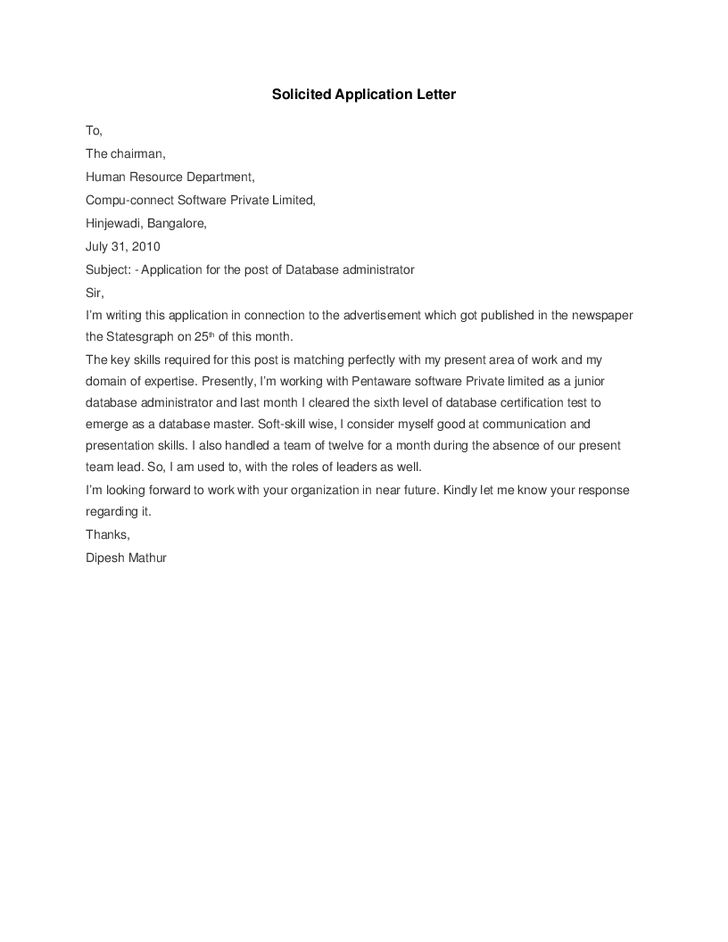 Application letter in tagalog version