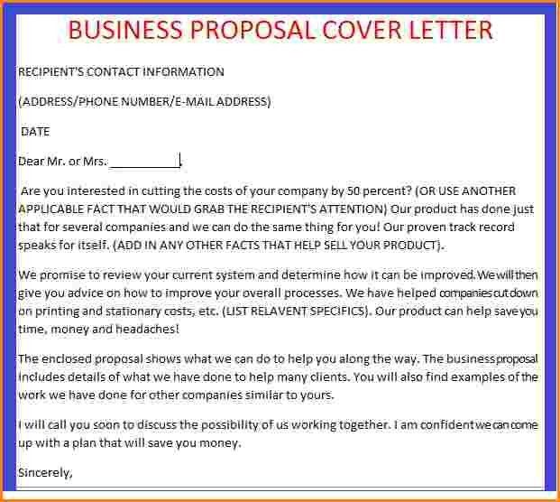 Proposal Letter Template. Job Proposal Letter Template Sample ...