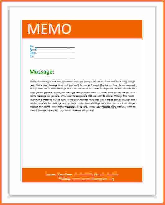 microsoft office memo