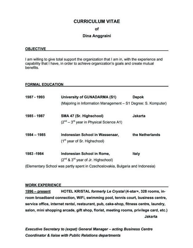 Good Resume Objective - CV Resume Ideas