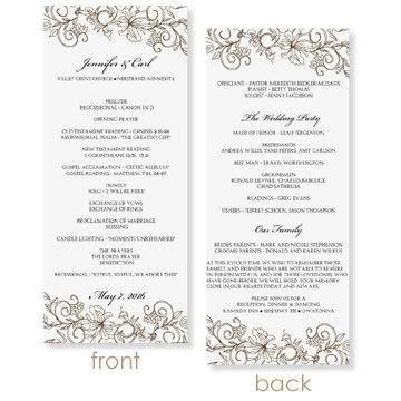 INSTANT DOWNLOAD - Wedding Program Template - Vintage Bouquet ...