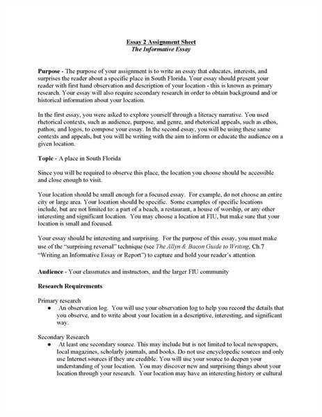 descriptive essays examples on place