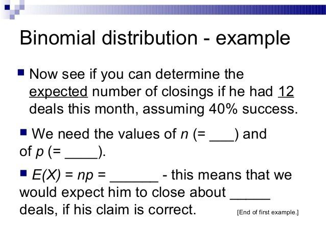 1630 the binomial distribution