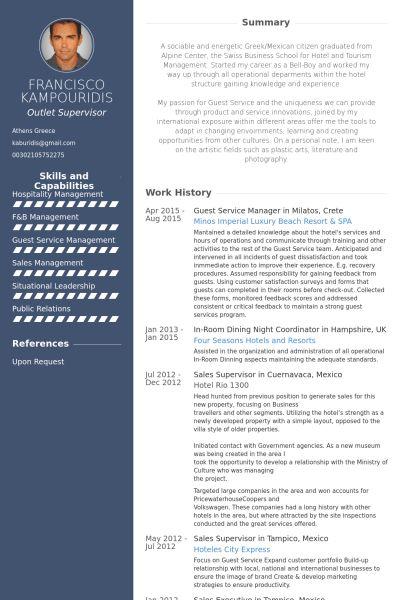 Service Manager Resume samples - VisualCV resume samples database