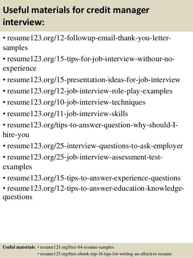 sample resume bank credit manager