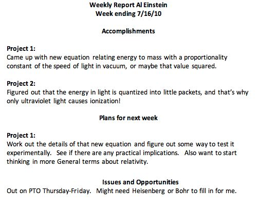 PPS Part 3 of 4: Weekly Reports | Axe-ing R&D