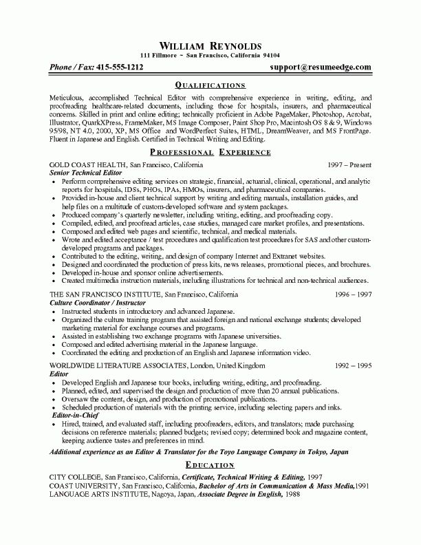 Free Sample Resume Cover Letter