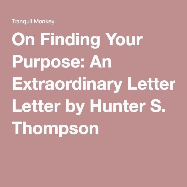 38 best Hunter S Thompson images on Pinterest | Hunter s thompson ...