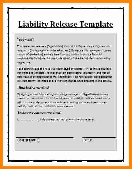 11+ release of liability contract template | job resumed
