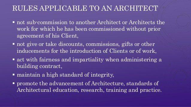 ARCHITECT'S ACT 1972