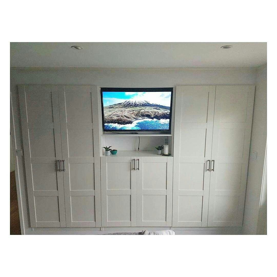 Yvonne\'s wardrobe with built-in TV cove, shelves and drawers is the ...