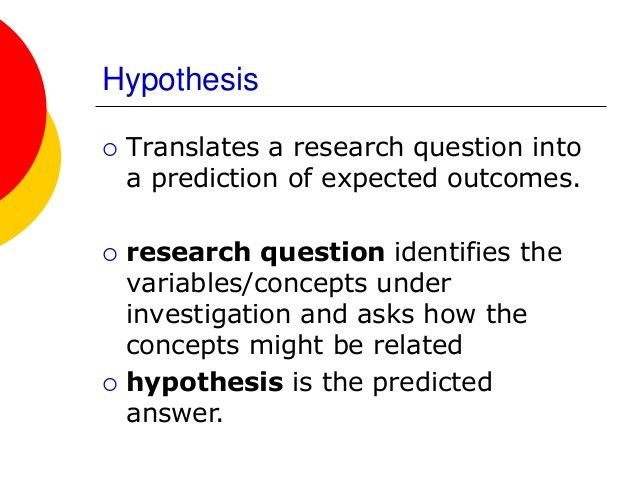 Formulating hypothesis in nursing research