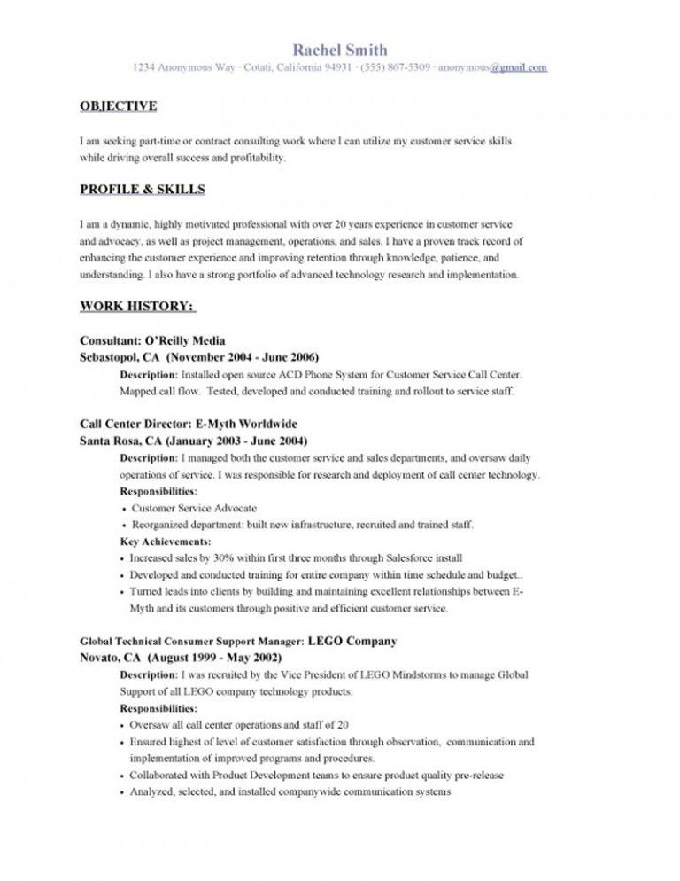 Resume Objective Example 17 Free Download Basic Doc Format Resume ...