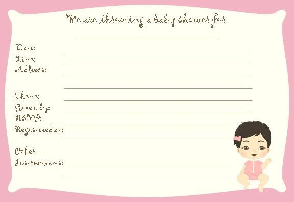 Baby Shower Invitation Templates For A Girl | THERUNTIME.COM