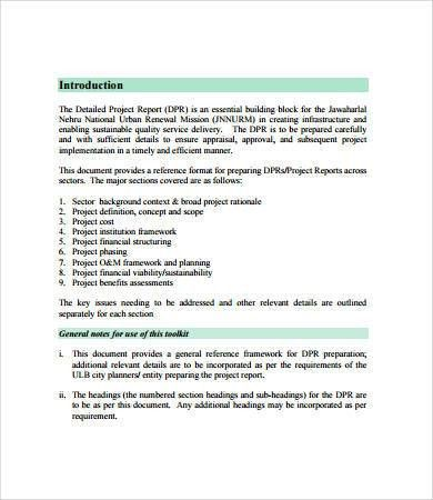 Project Report Format - 9+ Free PDF Documents Download | Free ...