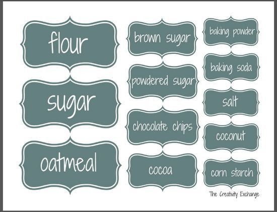 78 best Kitchen & Pantry Labels images on Pinterest | Pantry ...