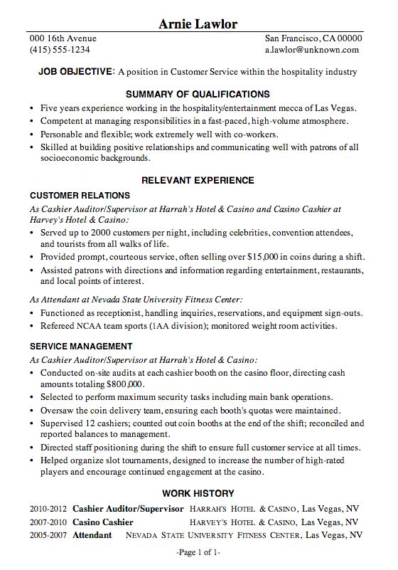 Exciting Customer Service Sample Resume 5 Customer Service Resume ...