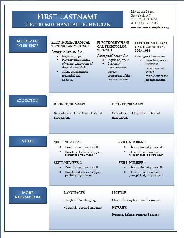 Resume Examples In Word Format. Manager Resume Template Microsoft ...