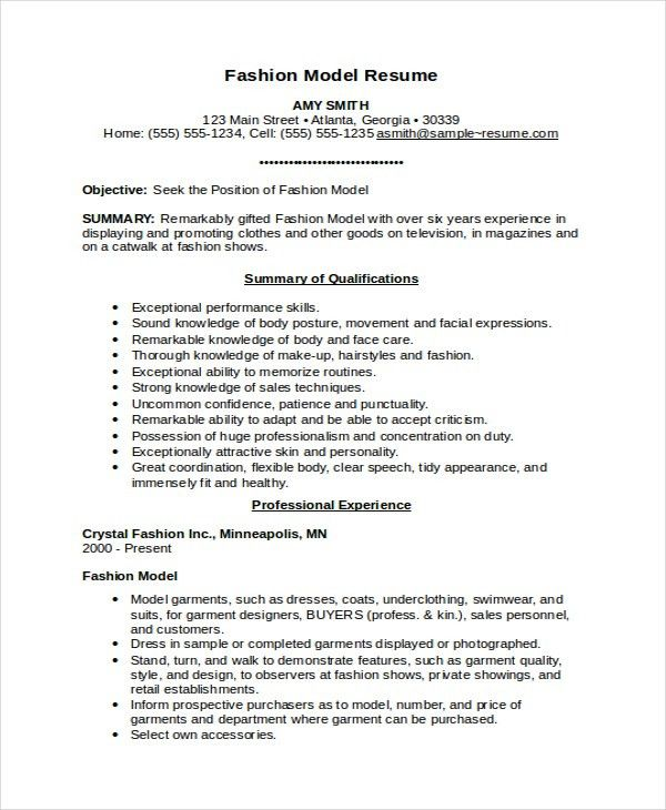Download Model Resume | haadyaooverbayresort.com