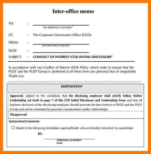 Interoffice Memo Sample Format 98 - cv01.billybullock.us