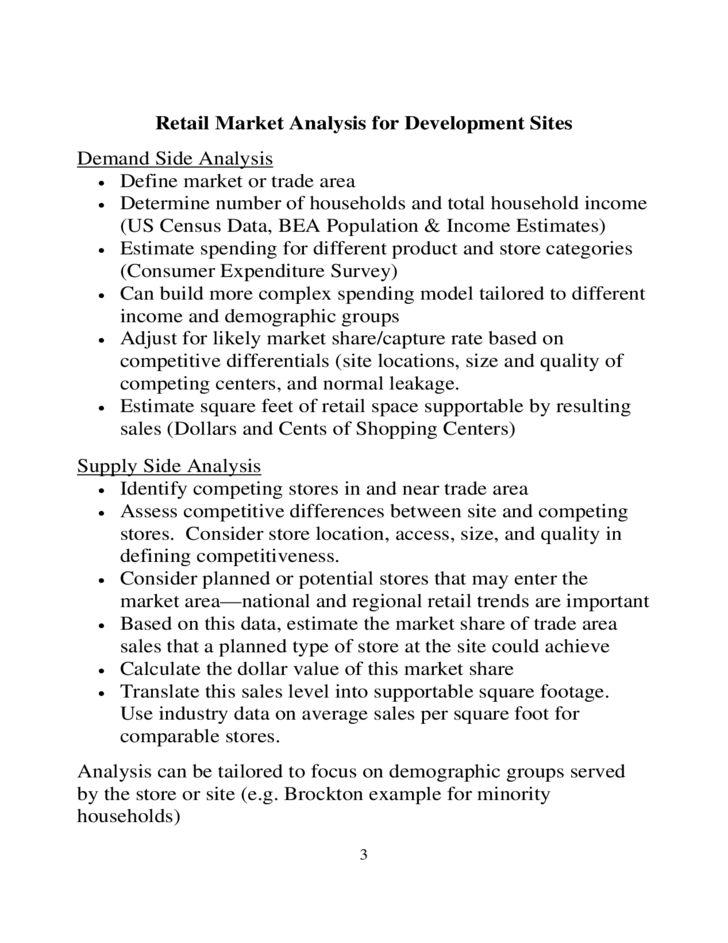 Retail Market Analysis Sample Free Download