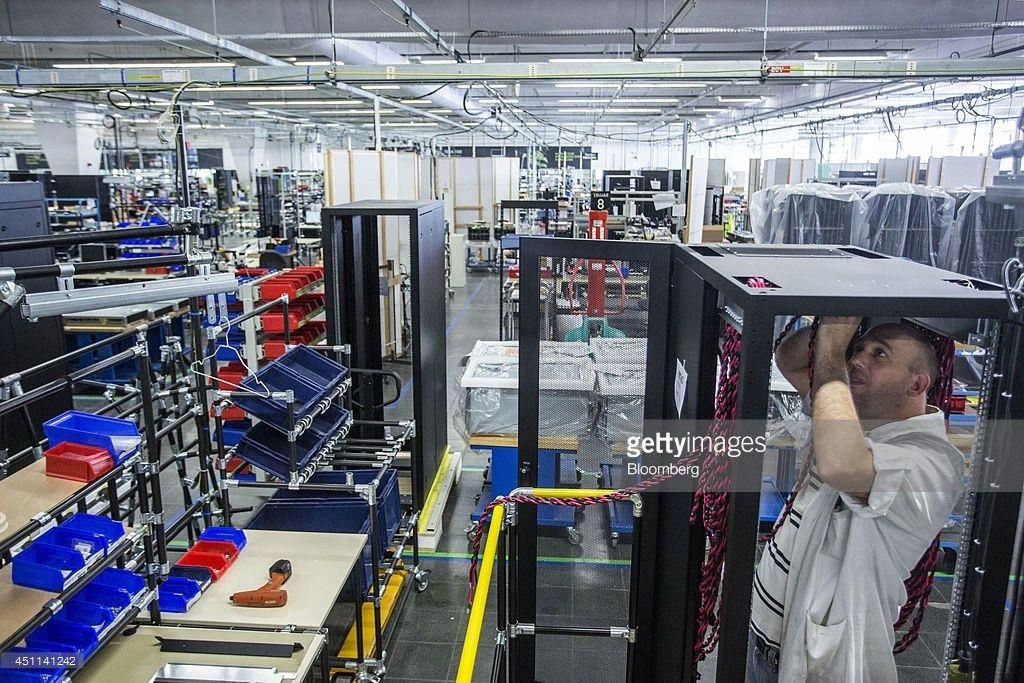Supercomputer and Server Assembly At Bull As Software Maker Atos ...