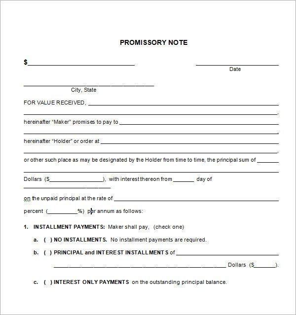 Promissory Notes. Sample Discount Promissory Note Template Sample ...