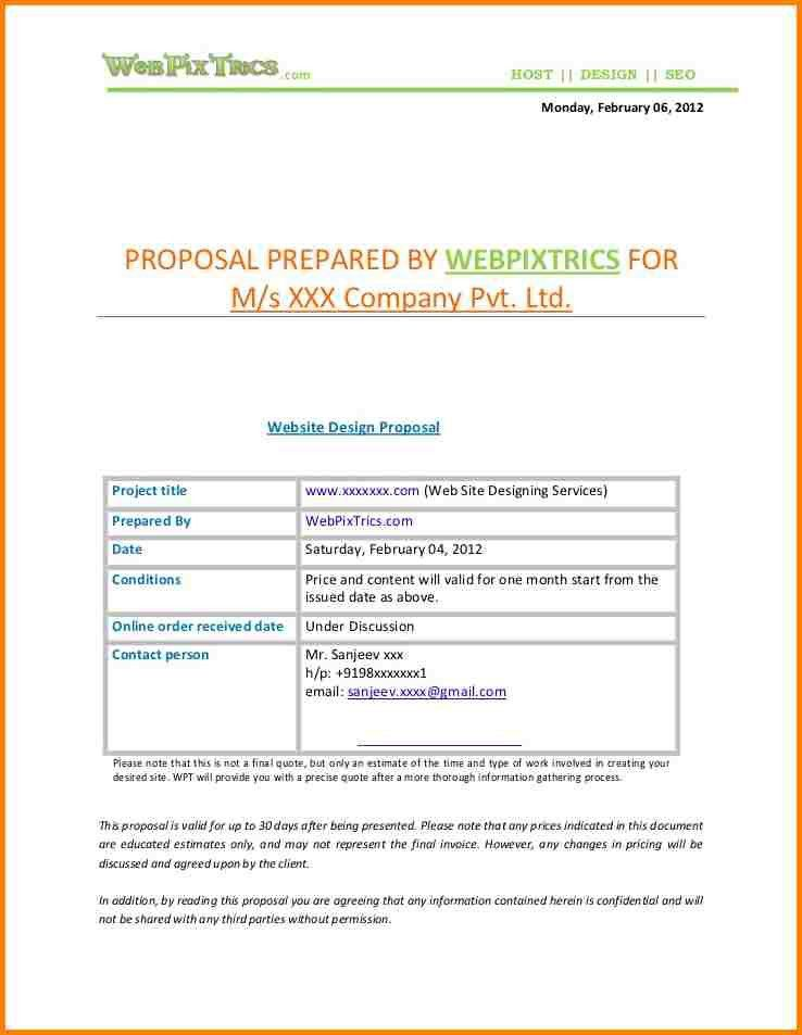 5+ web design proposal template | artist resume