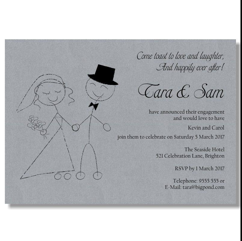 Engagement Invitation Format   Cvletter.csat.co