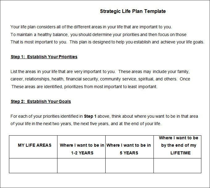 Life Plan Template - 4+ Free Word, PDF Documents Download | Free ...