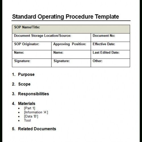 Procedure Templates Word. 36 page standard operating procedure sop ...