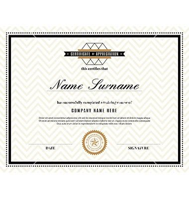 Retro frame certificate design template vector by kraphix on ...