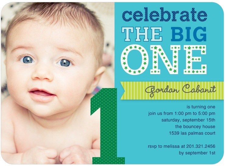 First Birthday Photo Invitations – Bagvania FREE Printable ...