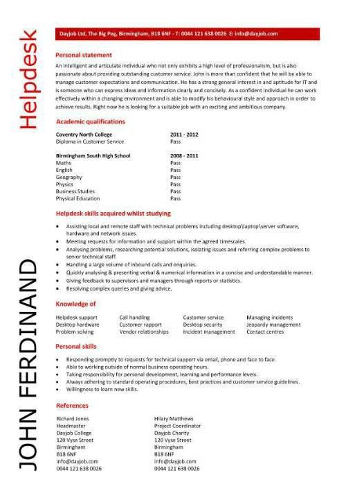IT CV Template, CV Library, Technology Job Description, Java CV ...