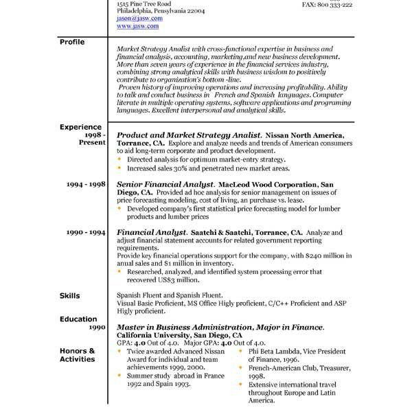 American Format Resume. Regular Resume Format Teaching Job Resume ...