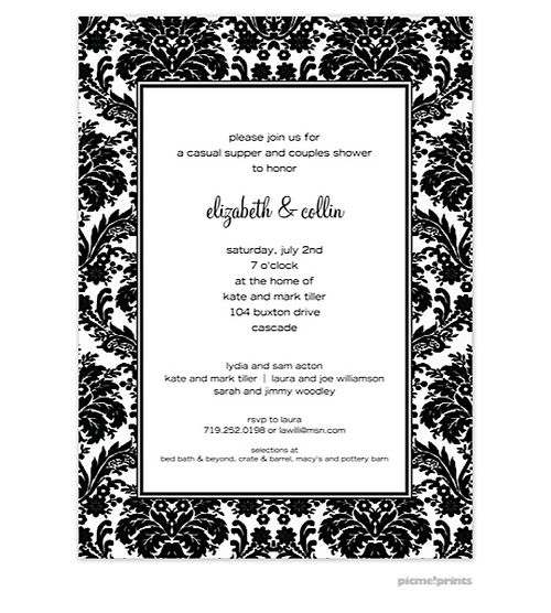 Black And White Party Invitations - marialonghi.Com