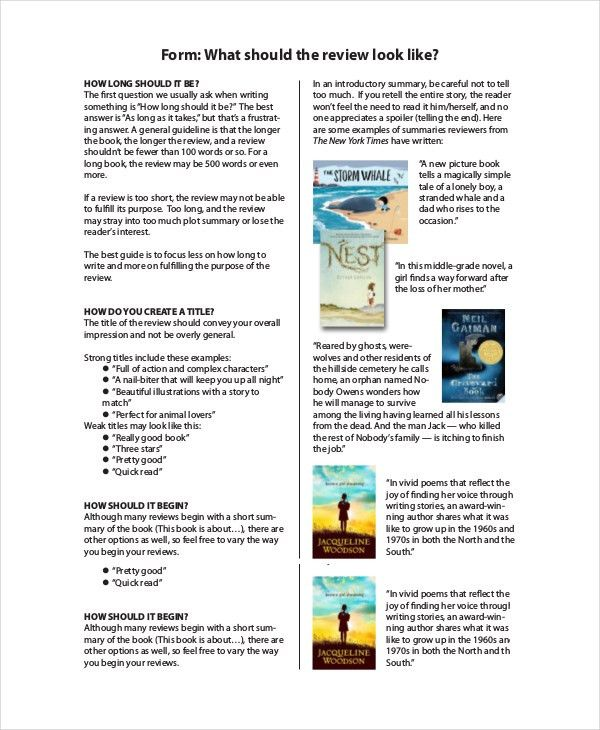 Book Review - Free PDF, Word Documents Download | Free & Premium ...